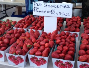 hollywood farmers market strawberries
