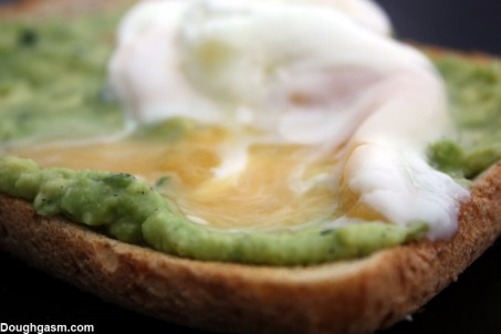 avacado toast with poached egg