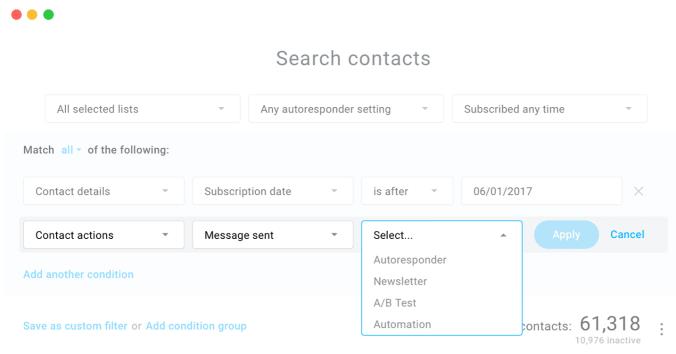 GetResponse AWeber Email List Segmentation