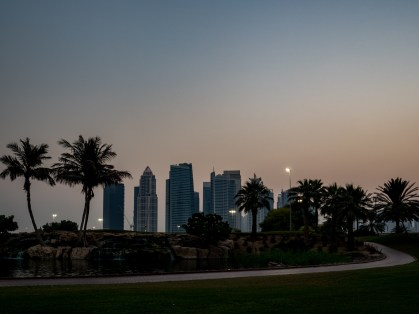 Dubai at sunset, Emirates Golf Course. Olympus 17mm f1.8
