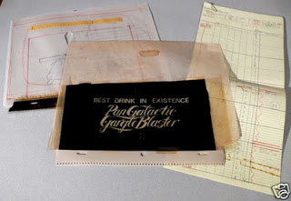 Original items from TV series graphics on ebay : Gargle Blaster package