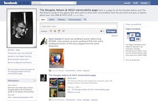 The DNA & H2G2 memorabilia page on facebook