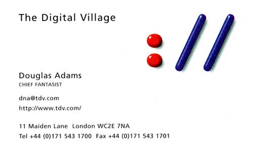 Business Card Douglas Adams