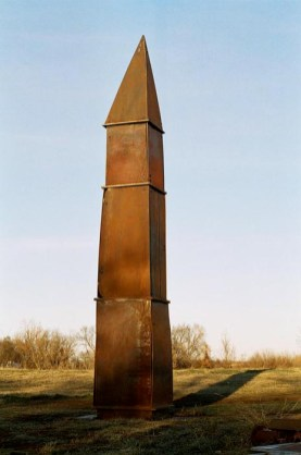 Tower IX, Song of the Ancients, 2006. Bolted steel. 24 x 5 x 4 ft.