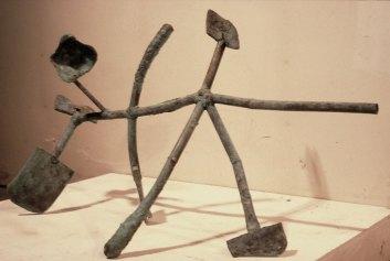 Mudra Steptoe, 1983. Patinated bronze 26 x 44 x 18 in.
