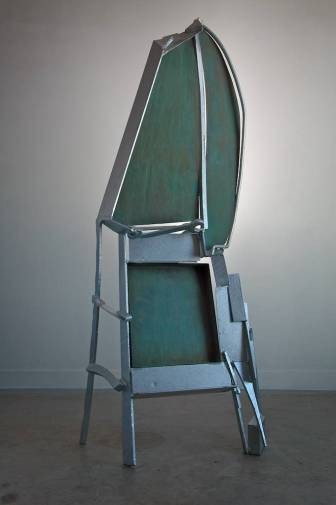 Memory for Goya, 2012. Galvanized steel and iron, patinated brass 80 x 35 x 20 in.