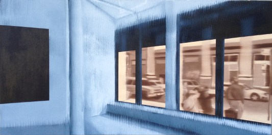 Icebox, Oil on canvas, 24 x 48
