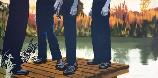 Nightfall, Oil on canvas, 36x72
