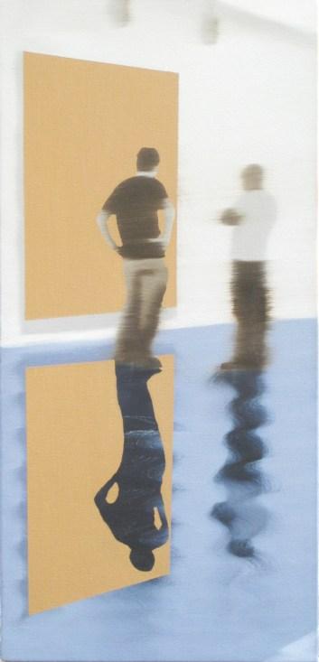 Gallery Talk, Oil on canvas, 23 x 11