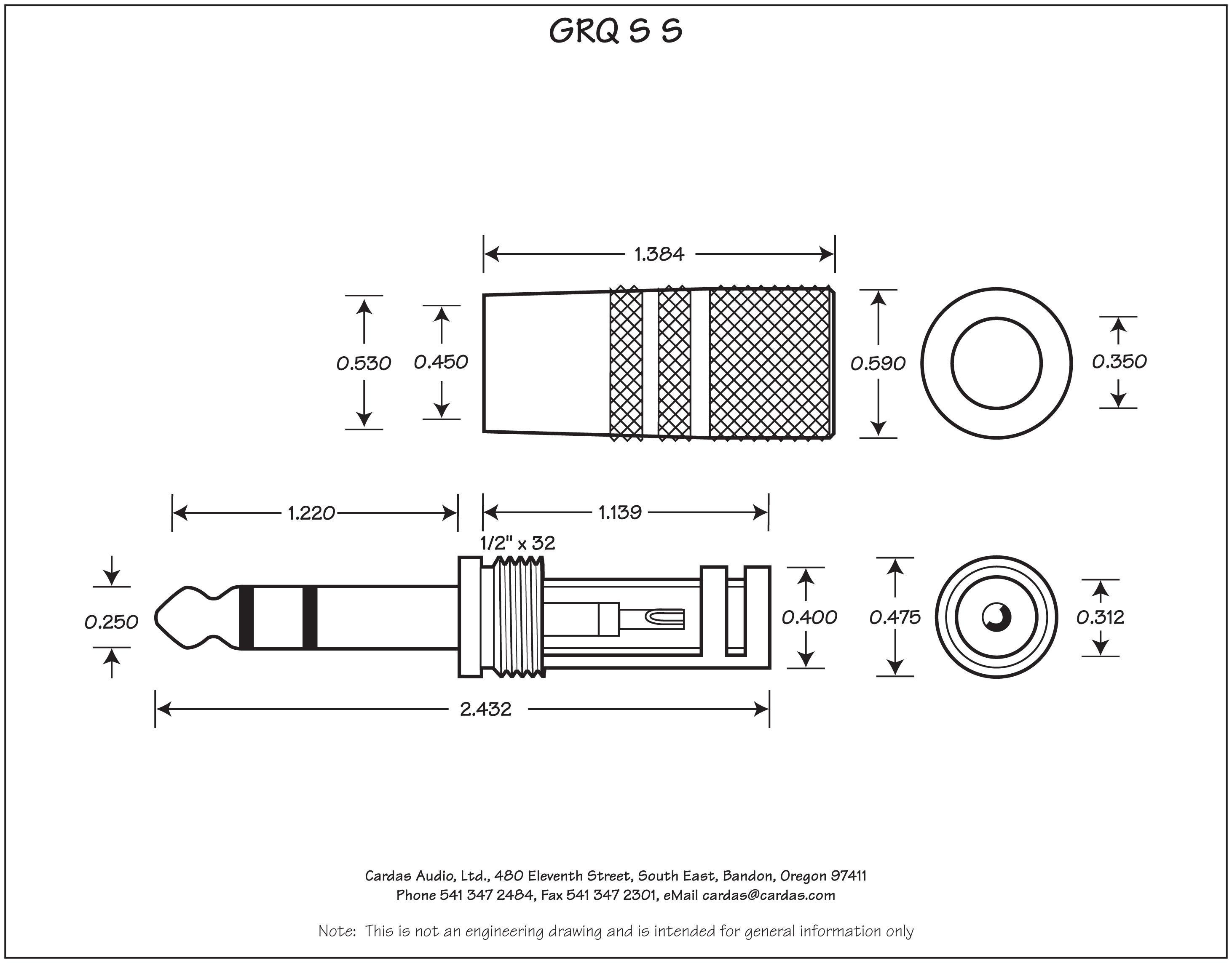 Cardas Grq S S 1 4 Trs Stereo Phono Plug Douglas Connection