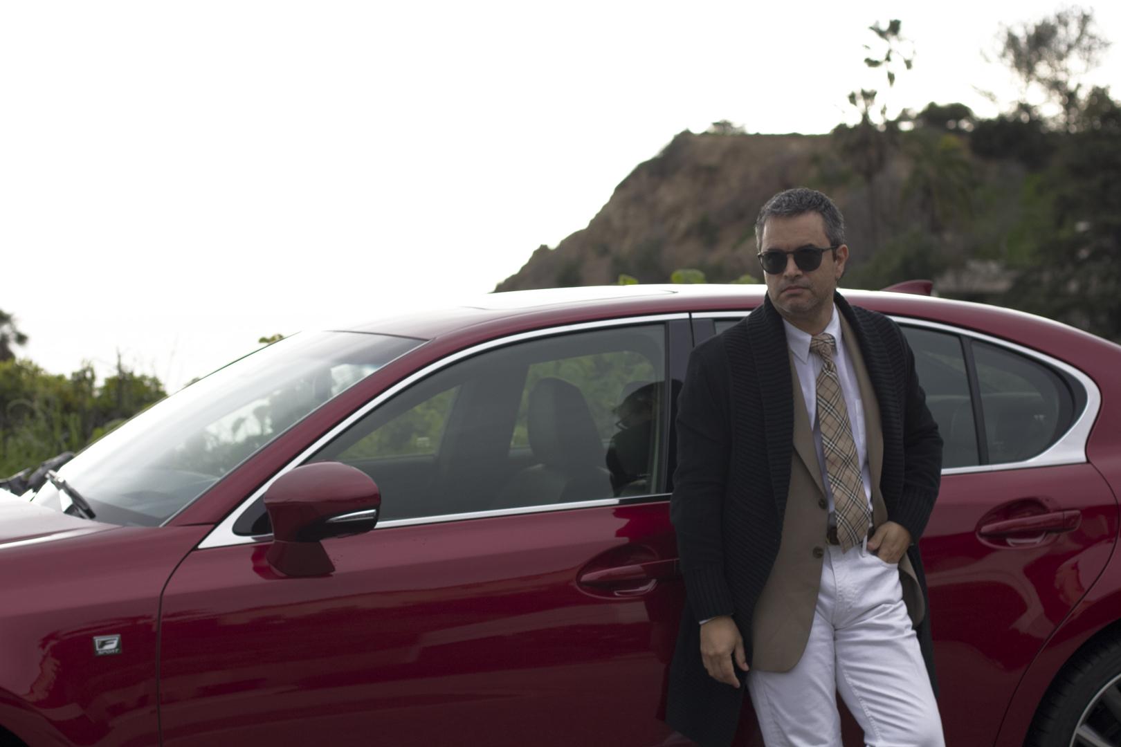 Lexus car blogger outfit