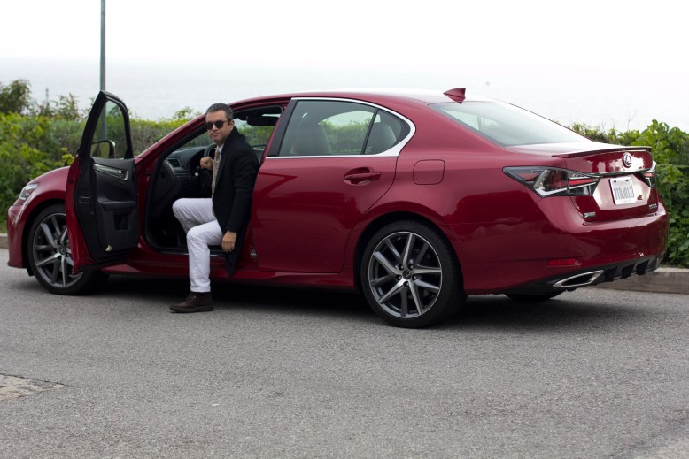 Lexus GS 300 F Sport Los Angeles Bloggers Outfit & Ride