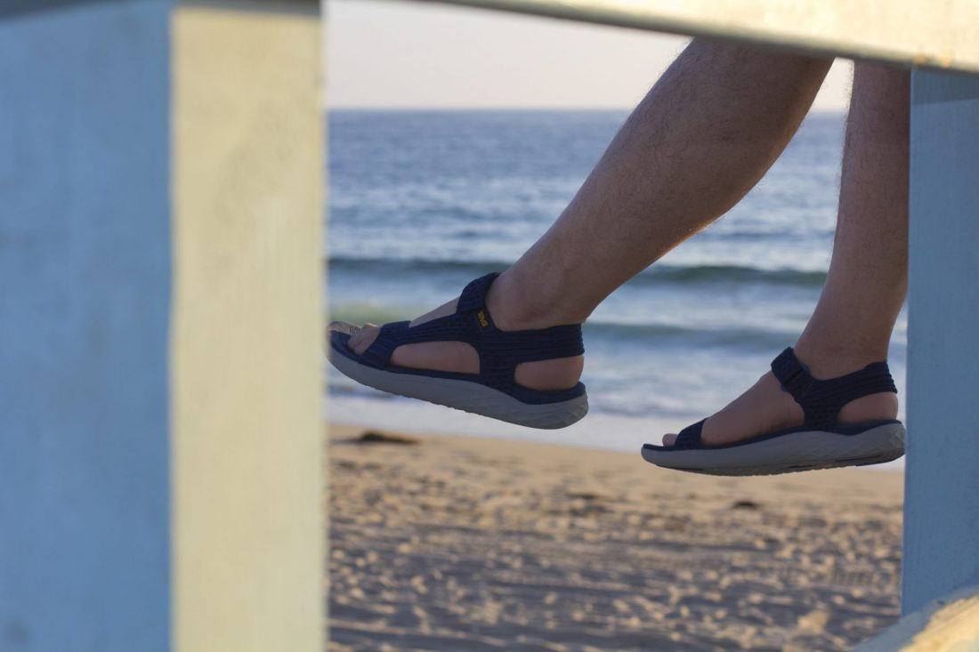 One last look at sunset with my Teva sandals