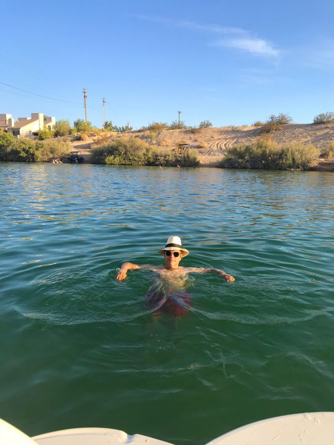 Douglas taking a dip on Lake Havasu
