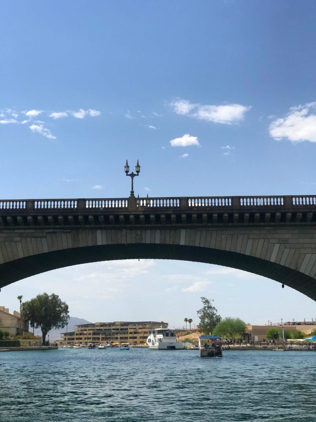 The London Bridge over Lake Havasu