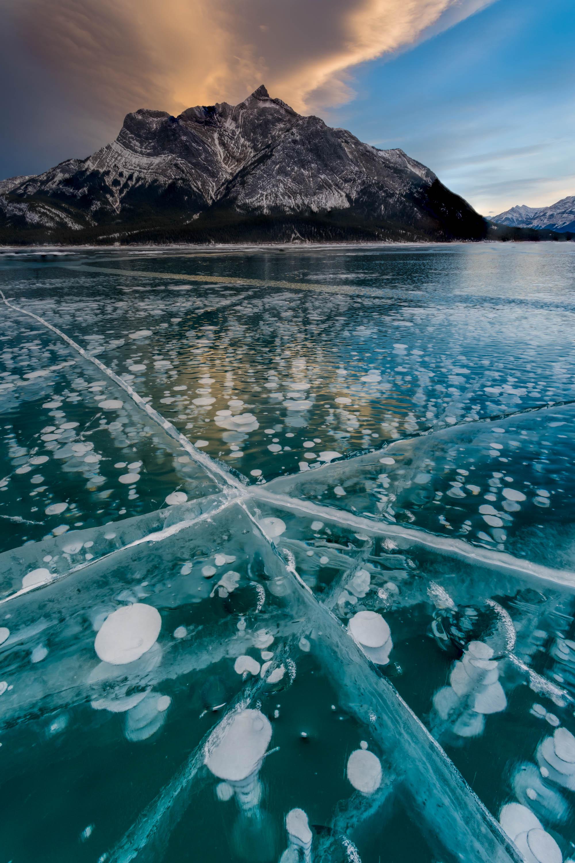 Interesting Ice Bubbles on Abraham Lake