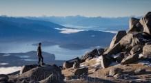 Mount Titiroa looking over Lake Manapouri and Te Anau