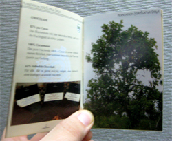 The chocolate came with a nice little book, written in German.