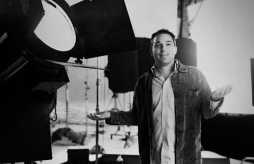 Doug Megill producing in studio with 10k in background