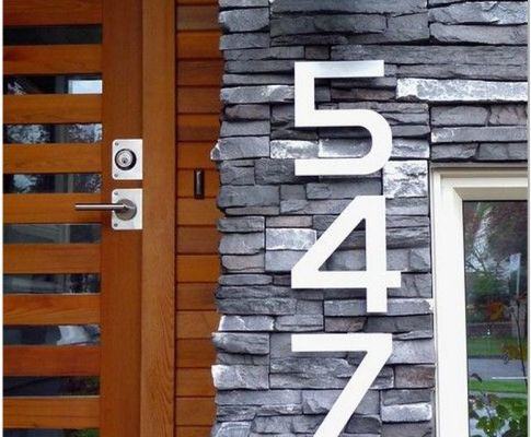 77 Make Your Home Exterior a Modern Look With House Number Signs