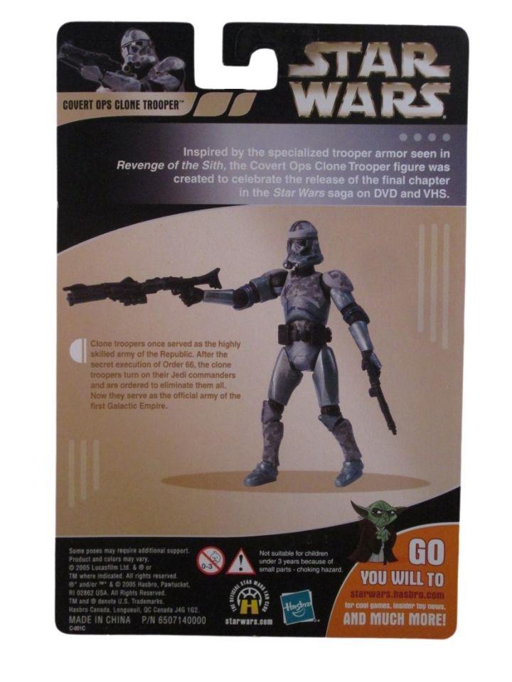 Star wars Clone Wars Covert OPS Clone Trooper 2005 Loose