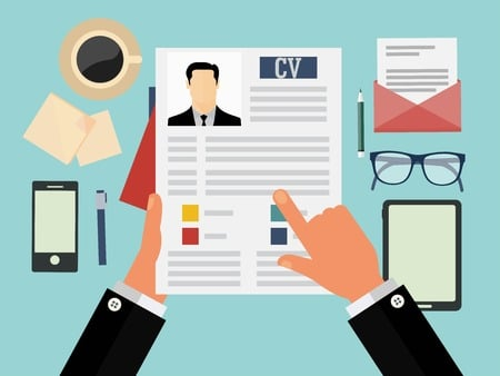 36762097 - job interview concept with business cv resume