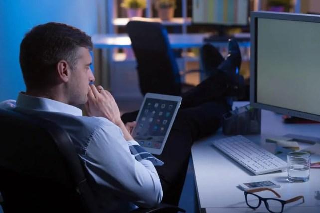 man waiting and thinking