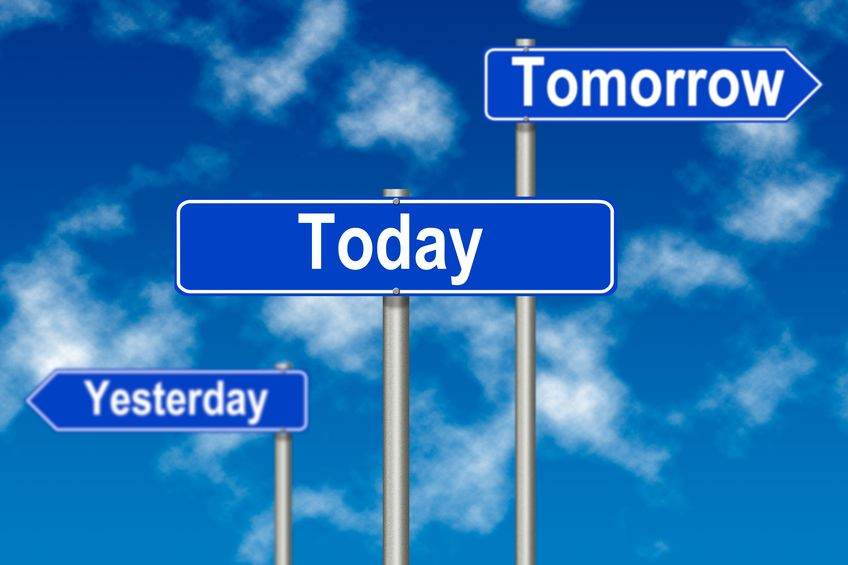 Signs about yesterday, today and tomorrow