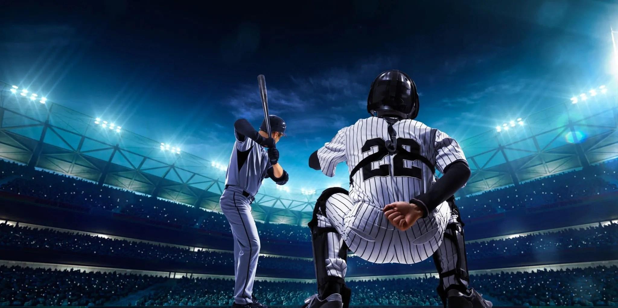 baseball batter aand catcher on 3-2
