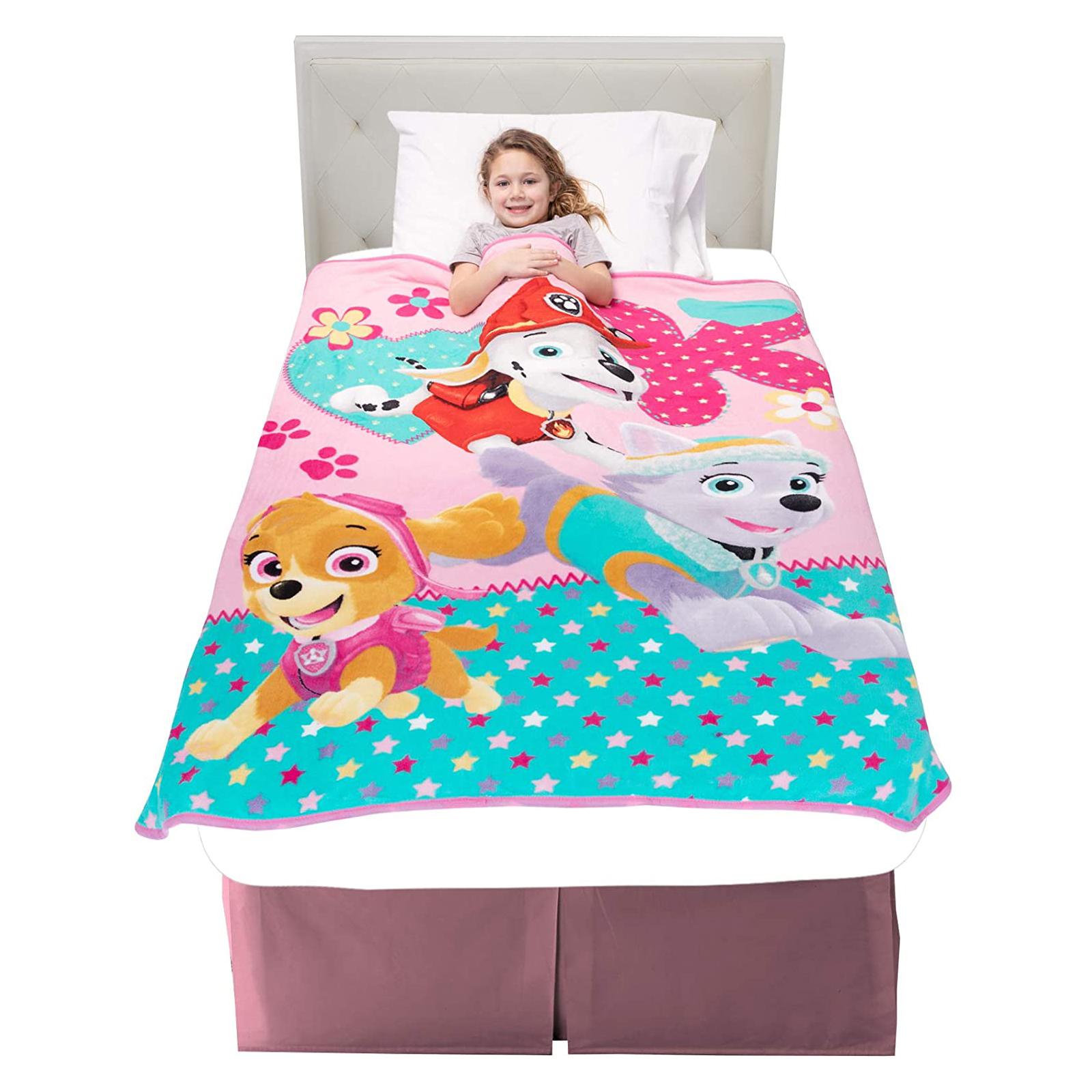 couvre lit couverture pat patrouille pour fille