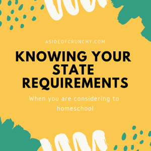 You should research your state requirements when researching homeschool options