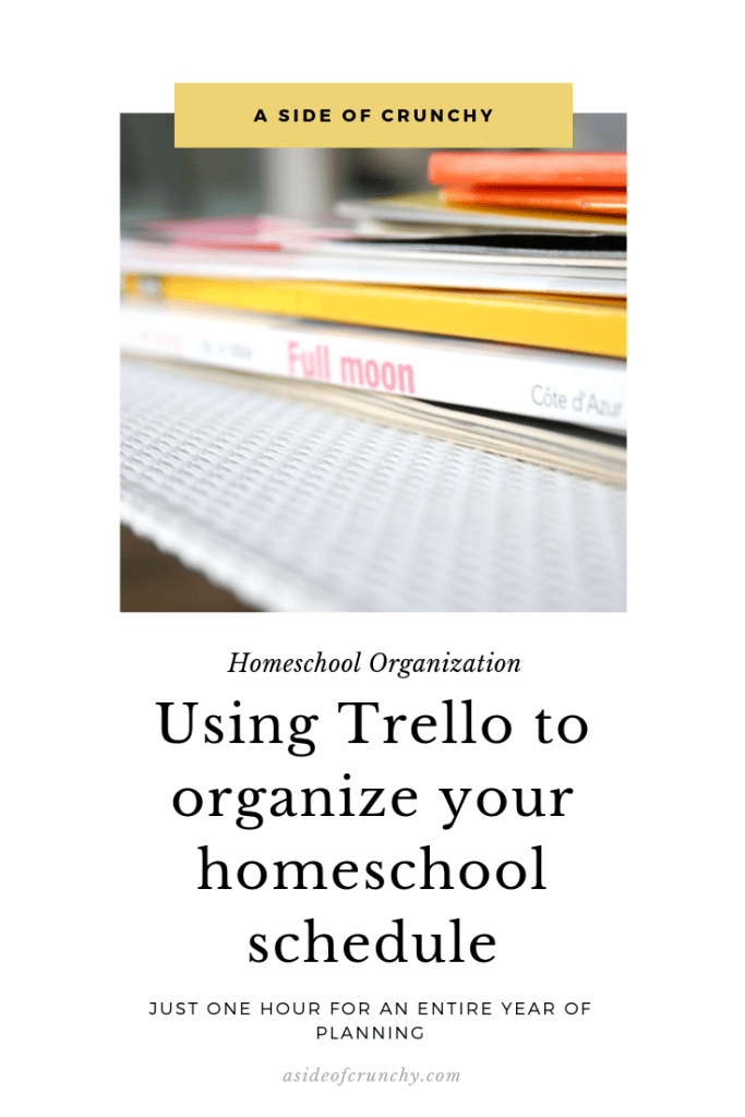 Homeschool organization with trello