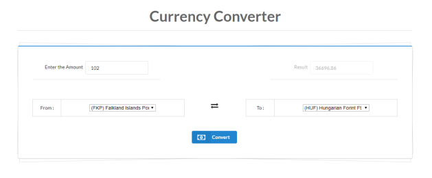 currency converter offline web app