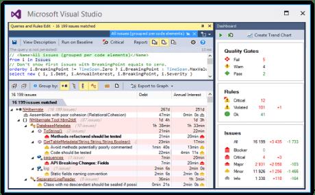 NDepend static analysis tool on visualstudio
