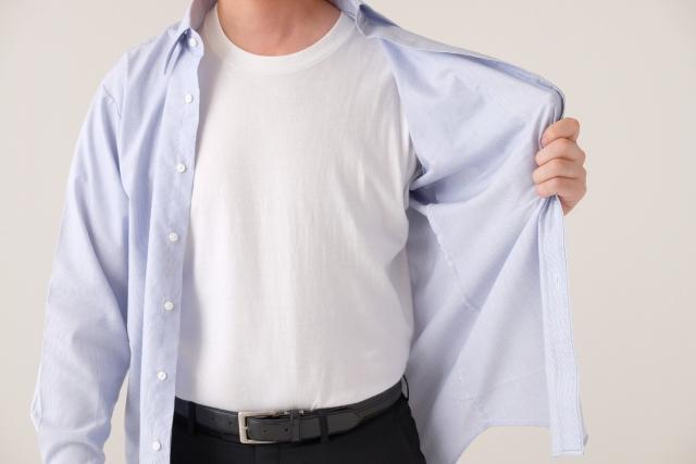 ワイシャツごわごわ