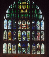 <h5>Window in Sherborne Abbey</h5>
