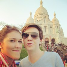 Climbing up to the Sacre Coeur