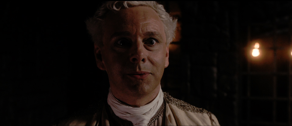 Aziraphale (Sheen) has heard Crowley's (Tennant) voice again for, so the viewer is left to assume, the first time in centuries.