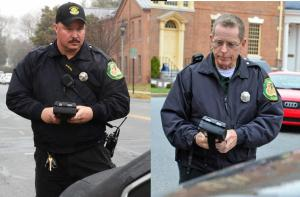 Parking Enforcement Officers John Boyer and Frank Hutchins