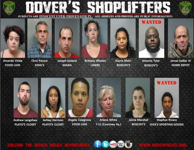 Shoplifting Arrests from October 16-October 23, 2014