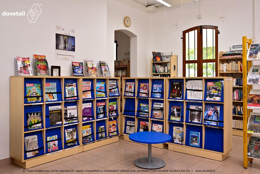 Lycée Français de Pondichéry Library Furniture