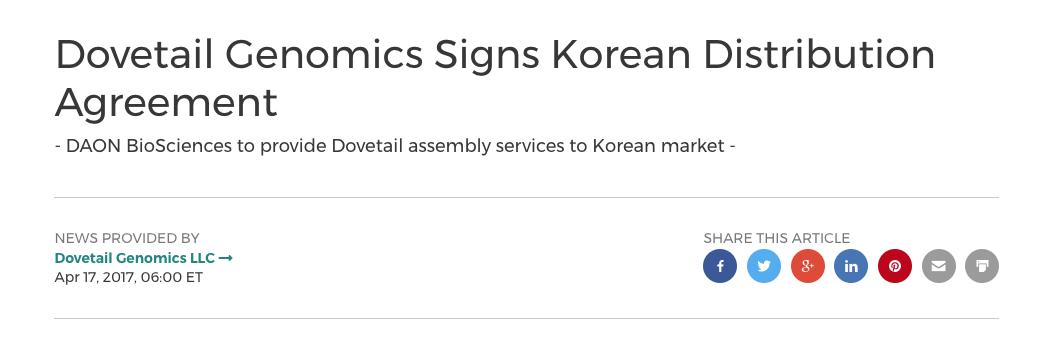 Daon Distributor Announcement