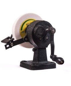 handwheel grinder with aluminium oxide wheel for chisels and plane blades
