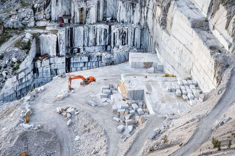 Cave di marmo - vista dall'alto