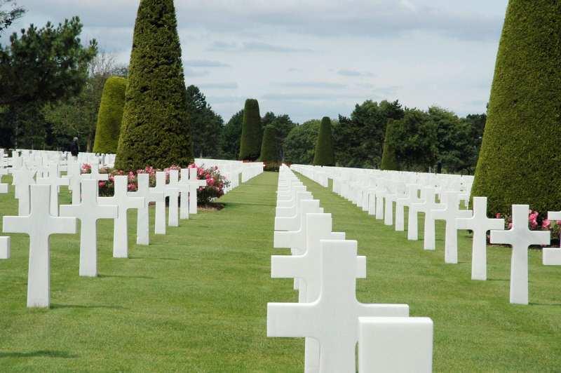 Landing beaches in Normandy Cemetery Omaha Beach