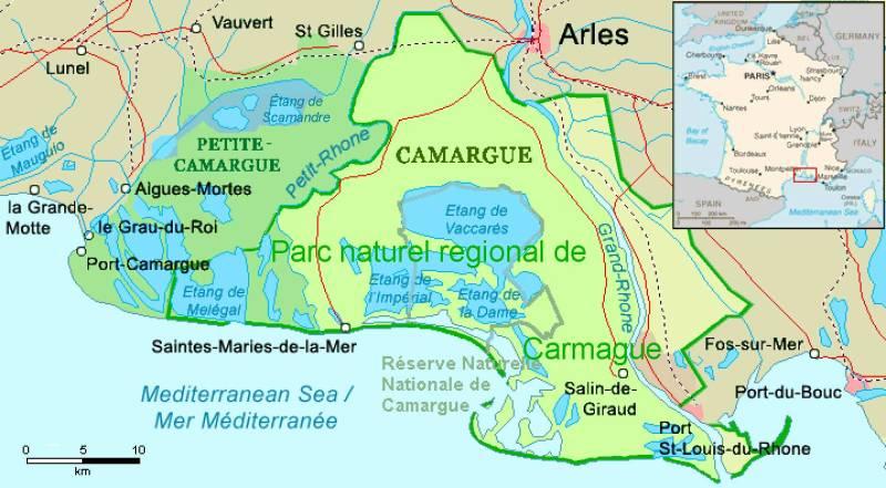dove si trova la Camargue