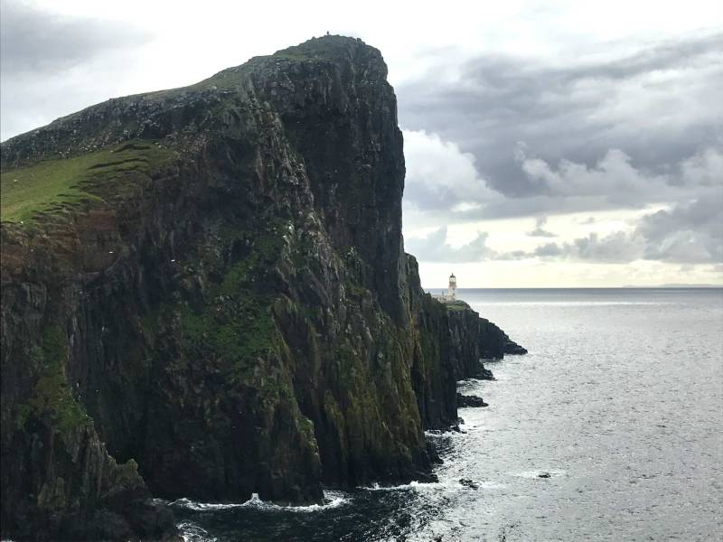 Neist point lighthouse and reef