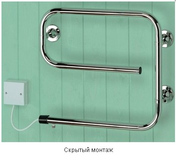 Установка електричного полотенцесушителя з фото   Техніка