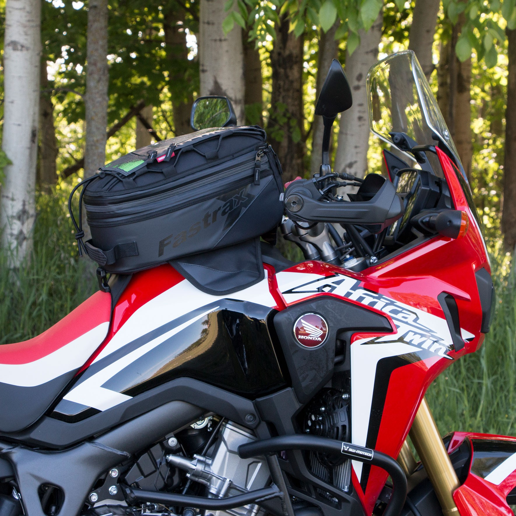 Dowco Fastrax Backroads Tank Bag on a Honda Africa Twin Motorcycle