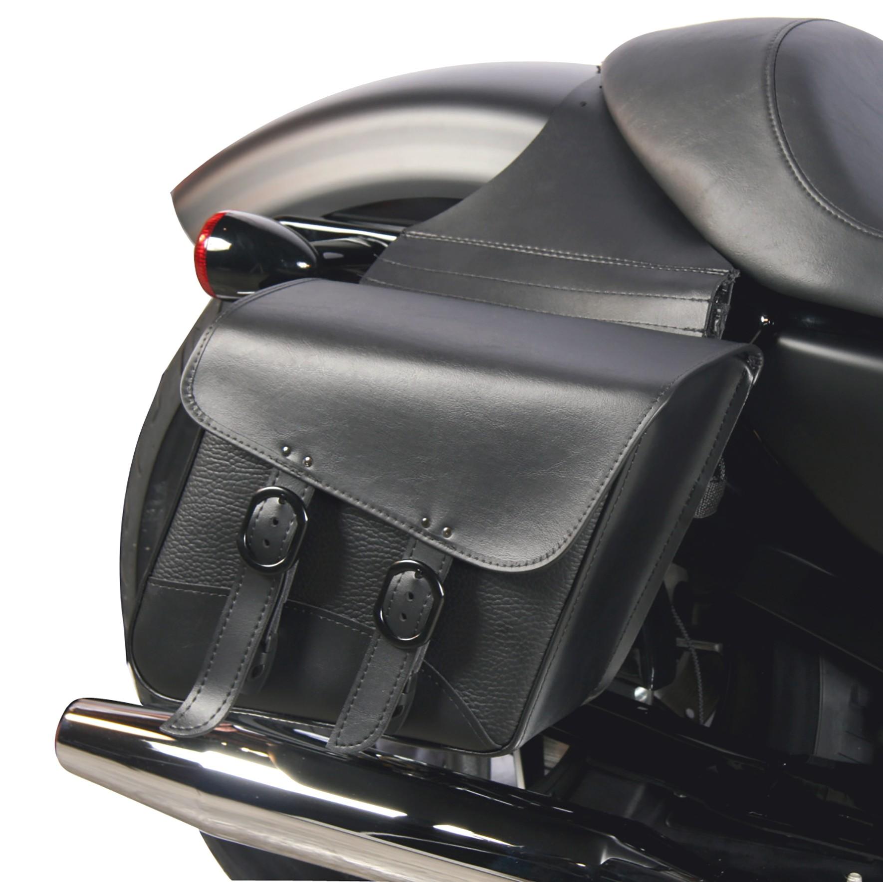 Dowco Willie and Max Blackjack Compact Slant Saddlebags on a Harley-Davidson Sportster XL